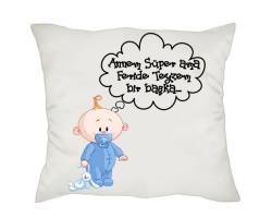 Yeni Doğan Hediyesi - Mesajlı Erkek Bebek Yastık