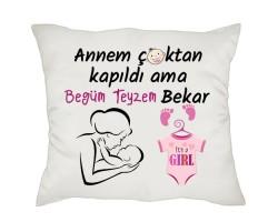 Halam/Teyzem Bekar Kız Bebek Hediyesi Yastık