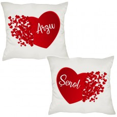 Sevgililer Günü Hediyesi İsimli Yastık Kombin Seti