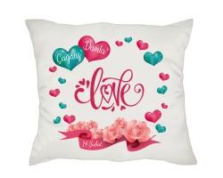 14 Şubat Sevgililer Günü Hediyesi İsimli Love Yastık