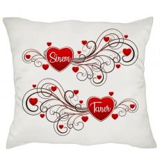 Adın Kalbimde Sevgililer Günü Hediyesi Yastık