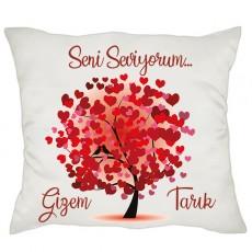 Sevgililer Günü Aşk Ağacı İsimli Yastık
