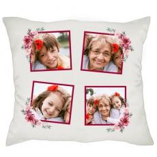 Anneanneye - Babaanneye Hediye Kolaj Fotoğraflı Anneler Günü Hediyesi Yastık