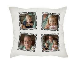 Dedeye Hediye Kolaj Fotoğraflı Babalar Günü Hediyesi Yastık