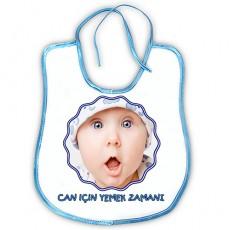 Fotoğraflı Mama Önlüğü Erkek Bebek