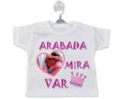 Kalp Fotoğraflı ve İsimli Arabada Bebek Var (Kız)