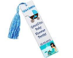 Baby Shower Bebek Şekeri - Kitap Ayracı Erkek Bebek