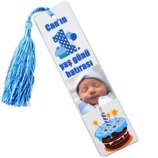 1. Yaş Erkek Bebek Şekeri - Fotoğraflı Kitap Ayracı