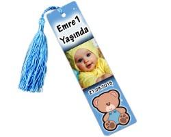 Doğum Günü Erkek Bebek Şekeri - Fotoğraflı Kitap Ayracı