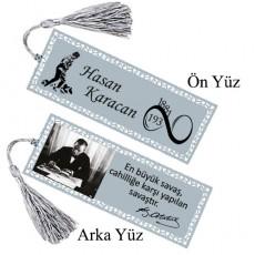 Atatürk Kitap Ayracı İsim Baskılı