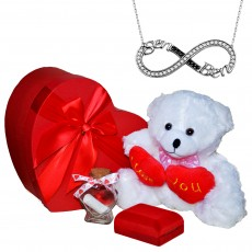 Ayıcığın Aşkı Kalp Kutuda Sevgililer Günü Hediye Seti