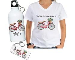 Bisiklet Temalı Sevgili Hediye Seti - Bayan Bisikletçiye Hediye