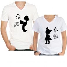 14 Şubat Sevgililer Günü Hediyesi - Öpücüklü Sevgili Tişört Seti