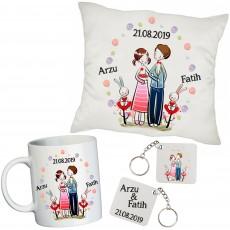 Sevgiliye Romantik İsimli - Sevgililer Günü Hediye Seti