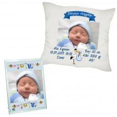 Hoşgeldin Erkek Bebek Hediyesi Yeni Doğan Fotoğraflı Hediye Seti