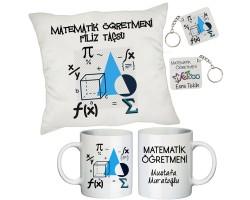 Matematik Öğretmenine İsimli Hediye Seti - Öğretmenler Günü Hediyesi