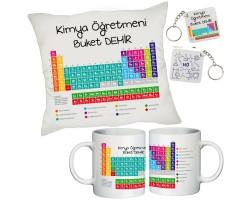 Kimya Öğretmenine İsimli Hediye Seti - Öğretmenler Günü Hediyesi