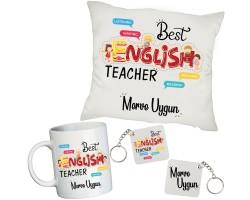 İngilizce Öğretmenine İsimli Hediye Seti - Öğretmenler Günü Hediyesi