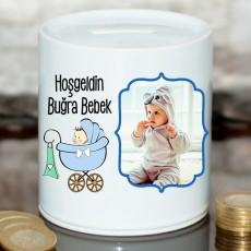 Yeni Doğan Hediyesi- Hoşgeldin Bebek Kumbarası (Erkek Bebek)