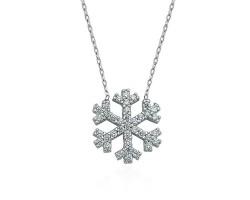Kar Tanesi Gümüş Kolye