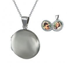 Kişiye Özel Kapaklı Resimli Yuvarlak Gümüş Kolye