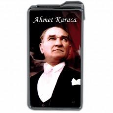 Atatürk Fotoğraflı Hediyelik İsimli Çakmak