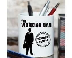 """Babalar Günü Hediyesi İsme Özel """"The Working Dad"""" Kalemlik"""