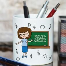 Bayan Öğretmene Hediye İsimli Kalemlik