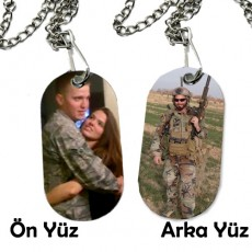 Fotoğraf Baskılı Asker Künyesi - Askere Hediye